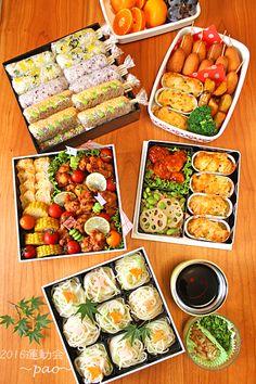 運動会や持ち寄りの愛用お重☆お重レシピ8品 Bento Recipes, Raw Food Recipes, Cute Food, Good Food, Happy Kitchen, Bento Box Lunch, Japanese Food, Japanese Lunch Box, Food Photo