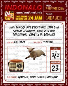 Angka Pakong Togel Wap Online Live Draw 4D Indonalo Banda Aceh 19 September 2016