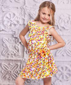 Yellow Polka Dot Alba Dress - Toddler & Girls