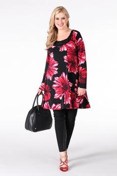 Shirt applique DAHLIA - Yoek Plus size fashion Grote maten mode winter 13/14