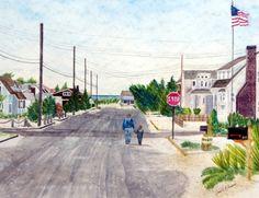 A Walk with Grandpop, Long Beach Island, New Jersey by Pamela Parsons
