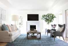 Marble fireplace surround || Studio McGee