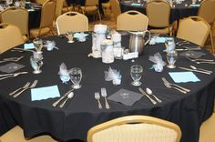 Table decorations #blue #birch #wedding