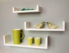 White U shaped MDF wall shelves floating racks from Ganes... http://www.amazon.in/dp/B00U5V13TG/ref=cm_sw_r_pi_dp_x_oEz9yb08HE5W9
