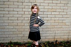 Boohoo children's fashion. Cold shoulder top and leather skirt.  http://www.mummyandthechunks.com/2016/11/review-boohoo-kids-range.html