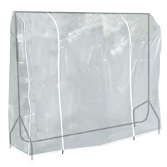 Buy Hangerworld 6 ft Transparent Clothes Garment Rail Cover with Strong Zipper and Document Pocket, Pack of 3 Clothes Rail Cover, Rolling Rack, Portable Wardrobe, Transparent Clothes, Linen Closet Organization, Closet Storage, Hanging Clothes, Garment Racks, Beige