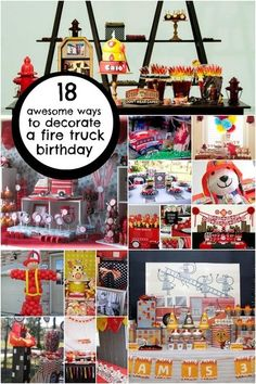 fireman fire fighter birthday party decoration ideas