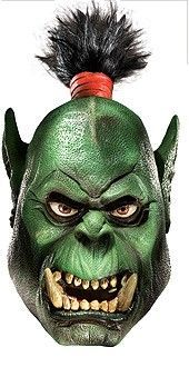 World Of Warcraft Orc Overhead Latex Costume Mask, Green
