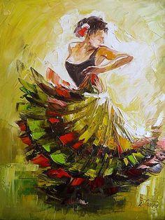 Dorota Łaz • Galeria obrazów • malarstwo • obrazy olejne... Taniec