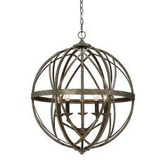 lakewood orb chandelier blackened silver