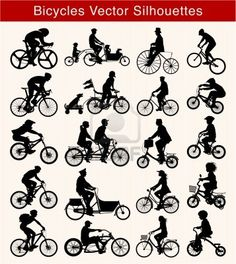 Bicycle silhouette Stockfoto