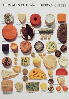 We love your cheeses! Fromage de France/French Cheese I will start off with the very lower left if you don't mind. Tapas, In Vino Veritas, Wine Recipes, Cooking Recipes, Cooking Tips, Fromage Cheese, Do It Yourself Food, French Cheese, Types Of Cheese