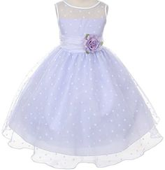 i like the dots: Kids Dream Girls Organza Polka Dot Special Occasion Dress: Clothing
