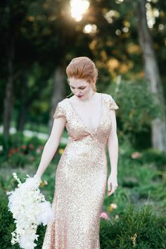 White and Gold Wedding. Gold Bridesmaid Dress. Elegant and Glamorous. Sequin Glitter Wedding Dresses 14