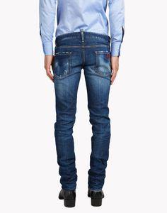Jeans On Sale, Super Skinny Cropped Jean, Denim Blue, Cotton, 2017, 26 Dsquared2