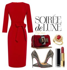 Soirée by crisa-gloria-eduardo on Polyvore featuring polyvore fashion style A La Russe Christian Louboutin R.H. Macy's & Co. Chanel Bebe