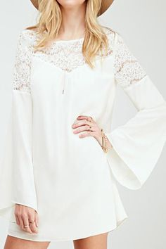 Cupshe Somewhere Out There Lace Chiffon Dress