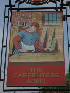 The Carpenters Arms, Pub Sign, Eastling