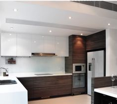 Modern two tone cabinets