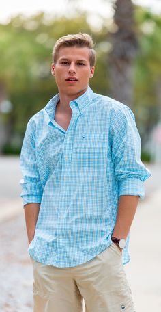 Keepin' it classy this school year in the Starboard Plaid Cotton Club Shirt Preppy Boys, Preppy Style, Frat Guys, Preppy Outfits, Summer Outfits, Club Shirts, Teen Fashion, Guy Fashion, Summer Shirts