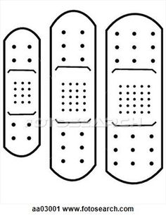 Printable Band-Aid Template | Clipart - Adhesive bandage. Fotosearch - Search Clip Art, Illustration ...
