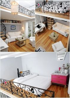 Loft beds are great as they leave the floor space free. Moreover, loft beds can also offer to duty as a space for storage, work, play and more. We have discovered some really cool loft bed designs for your inspiration. Some super cute beds for kids are there too on the list. So, check them out: 1. A Loft Bed That