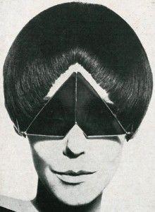 Peggy Moffitt coordinates bangs and shades 1960s .