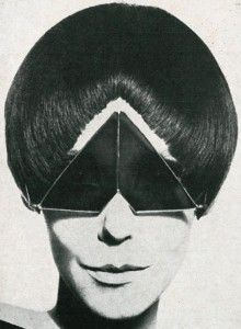 Peggy Moffitt in 60s Space Age Sunglasses