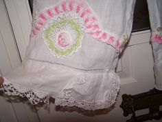 Bloomers / crop pants made from Vintage pillow cases and hankies :)