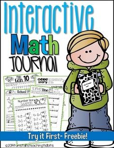 Student created math journals for the entire year! These interactive math notebooks are a great way to practice math skills in an interactive way. Interactive Math Journals, Math Notebooks, Math Classroom, Kindergarten Math, Classroom Ideas, Math Resources, Math Activities, Math Games, Math Intervention