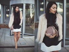 black, white and beige