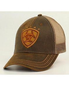 2dcfafd30f8 Ariat Oilskin Mesh Cap 1515602 Mens White Hat