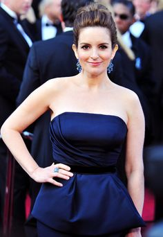Throwback Thursday.  Tina Fey Is Nobody's Fool.  Wearing a stunning dress by Carolina Herrera and sapphire, emerald and diamond jewellery from Bulgaria.  Find out more at http://caellisar.com/tina-fey-is-nobodys-fool. *