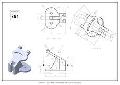 3D CAD EXERCISES 791 - STUDYCADCAM Isometric Drawing Exercises, Autocad Isometric Drawing, Mechanical Engineering Design, Mechanical Design, 3d Drawings, Technical Drawings, Unity 3d, 3d Tutorial, Drawing Practice