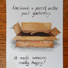 Random Thoughts of a Bored Artist: 2.0 Day 5 - Parcel Joy