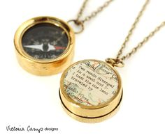 Small Map Compass Necklace with Robert by VictoriaCampDesigns, $36.00
