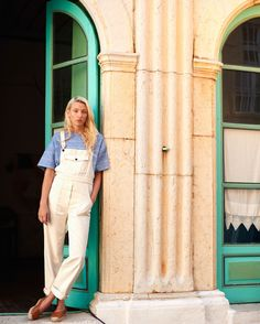 TOAST . women . white dungarees . summer 2015 . Photograph by Nicholas James Seaton . toa.st #TOASTSUMMER15