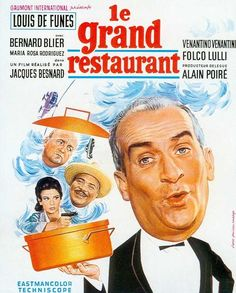 "What's Cooking in Paris (1966) ""Le grand restaurant"" (original title) Stars: Louis de Funès, Bernard Blier, Maria-Rosa Rodriguez ~ Director: Jacques Besnard"