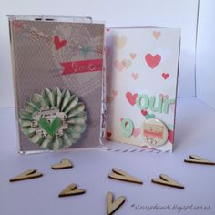 #elscrapdecuchi Mini album scrapbooking using Love Notes by Crate Paper collection and a cassette's box by Cuchi Medina