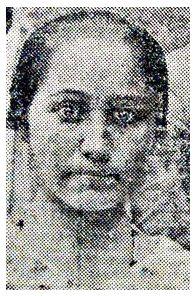 "SEBASTIANA, que viveu com o cangaceiro Moita Brava, após a morte da cangaceira Lili. A cangaceira Lili foi assassinada por Moita Brava após sua traição ao cangaceiro  .foto ""A Tarde"" de 7 de dezembro de 1938."
