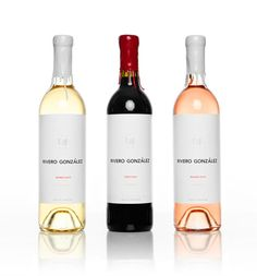 Beautifully designed: lovely cap covers and abundant whitespace on the label. #package_design #whitespace #wine_bottles