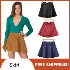 Elegantes de alta cintura do formulário-encaixe Corduroy Círculo Mini Saias 4 cores de 2013 Nova Moda mulheres PS0342 US $10.43
