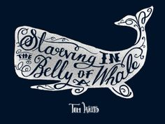 Starving in the Belly of a Whale by Rhys Jenkins, via Behance