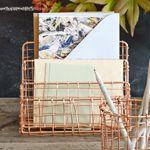 Copper Letter Basket