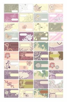 vector line drawing flowers cards theme