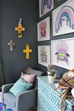 Fenton & Fenton. like the artworks and ahoy trader crosses for a kids room