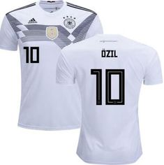 dfa58219e 2018 world cup national team home white OZIL Soccer Jersey