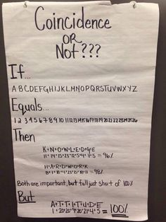 This is crazy! Teachers should post this on their boards. It works anywhere! In the workplace, school, and etc.
