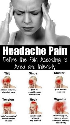 You might not have noticed it, but the pain can be different, depending on the headache. Some headaches cause pain in the forehead, and some cause pain in the back of the head. The intensity is different as well. Depending on where the headaches appear, a
