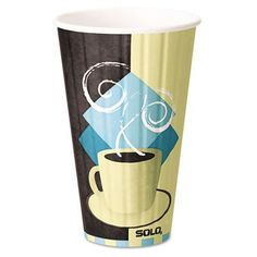 SOLO IC16-J7534 Duo Shield Insulated Hot Cup, 16 oz. Capacity, Tuscan Cafe (Case of 525)